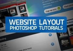 30 Website Layout Photoshop Tutorials