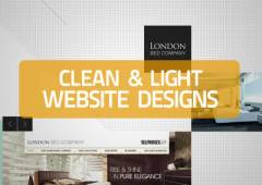 20+ Clean and Light Web Designs for Inspiration