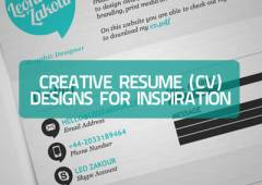 20+ Creative Resume (CV) Designs for Inspiration