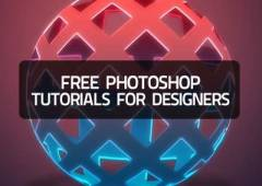 15+ Free Photoshop Tutorials for Graphic Designers
