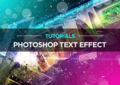 21 New Photoshop Text Effect Tutorials