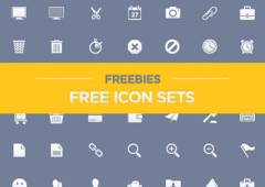 20 Free Icon Sets to Improve your Designs