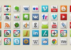 25 Beautiful Sets of New Social Media Icons
