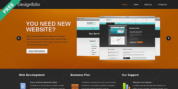 Free HTML Website Templates (10)