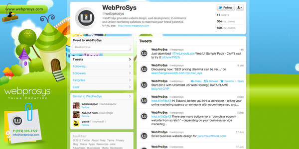 Twitter Background Layouts (2)