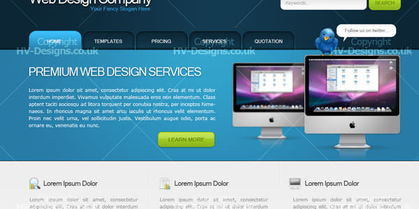 Website Layout Photoshop Tutorials (3)
