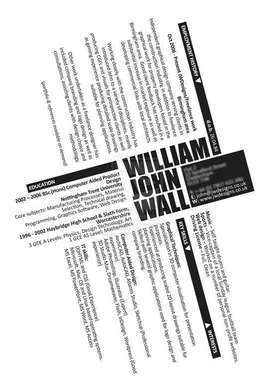 Creative Resume (CV) Designs (3)