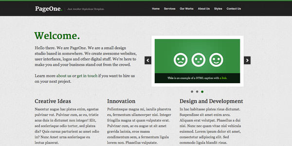 Free HTML Website Templates (6)