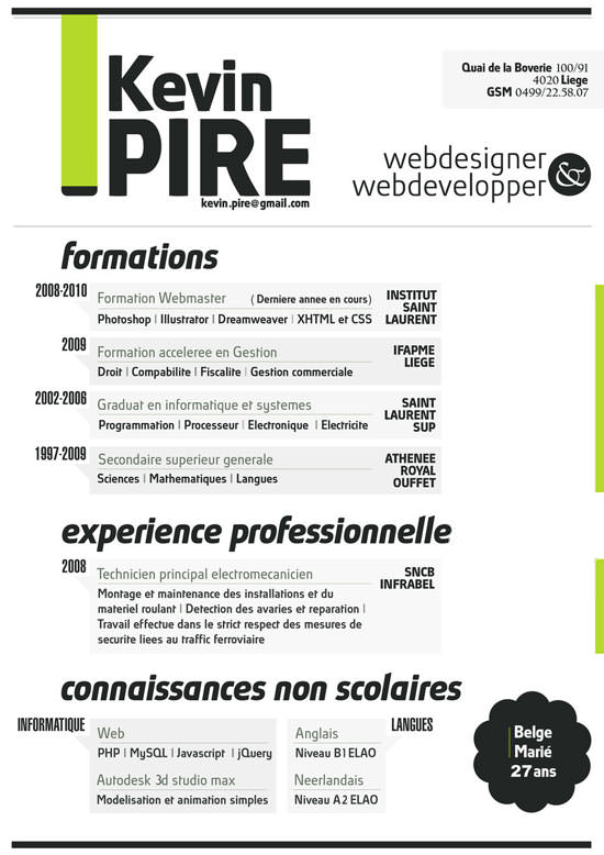 Creative Resume (CV) Designs (8)