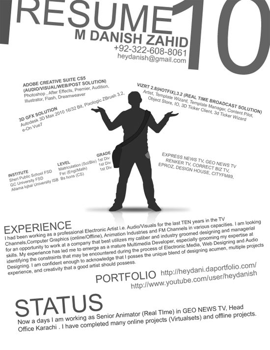 Creative Resume (CV) Designs (9)