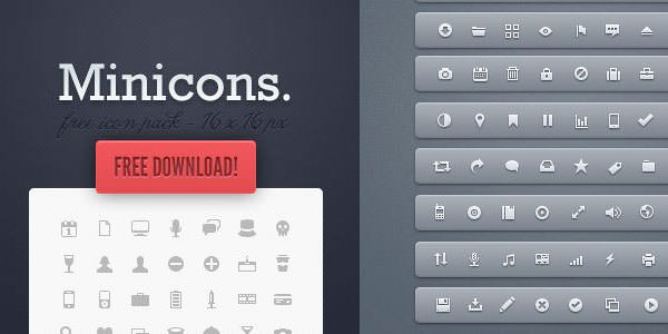 24 Free Mini Icon Sets To Download