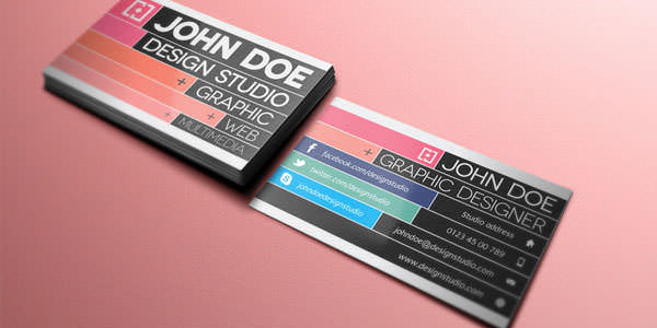 Free and Premium Business Card PSD Templates (14)