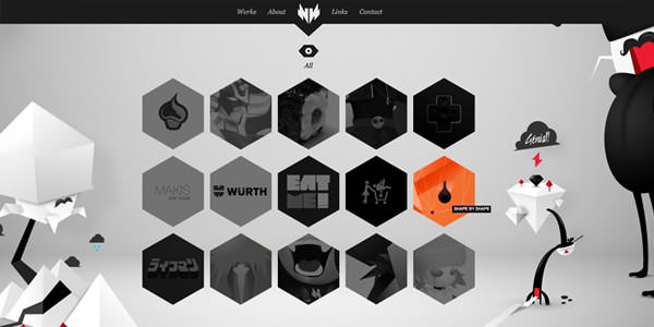 Black and White Websites (7)