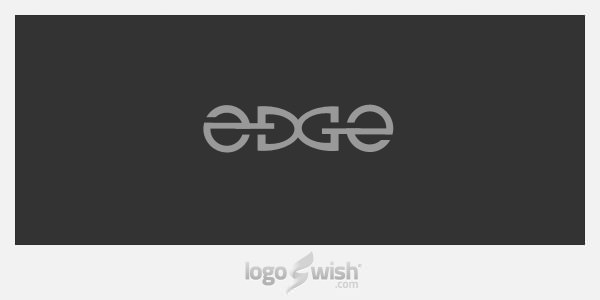 Edge Link Ambigram Logo by Raja Sandhu